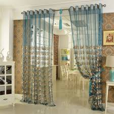Teal Patterned Curtains Sheer Patterned Curtains