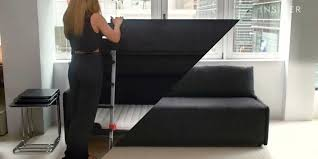 turn any sofa into a sleeper wonderful transformer furniture rearrange the cushions to turn sofa