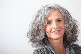 women in forties and grey hair naturally curly hairstyles curly hair silver curls