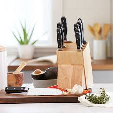 amazon com amazonbasics premium 9 piece knife block set kitchen amazon com amazonbasics premium 9 piece knife block set kitchen dining