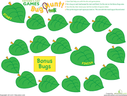 insect game hunt fake insects insects gaming worksheets