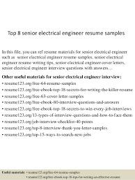 Electrical Engineering Resume Examples Electrical Engineer Sample Resume Electrical Engineer Cv Sample