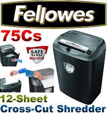fellowes powershred 75cs 12 sheet 26 5l cross cut shredder cd