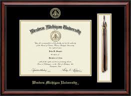 of michigan diploma frame western michigan tassel edition diploma frame in