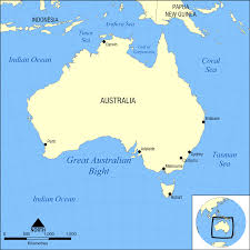 map with oceans australia map oceans
