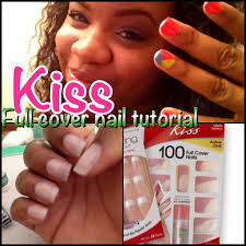 kiss full cover nail tutorial youtube
