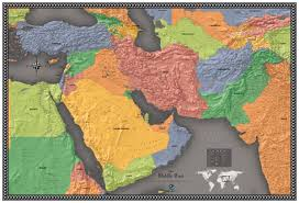 middle east map india contemporary middle east wall map maps