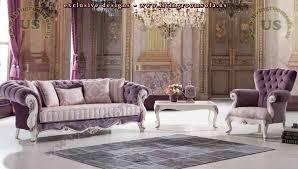 purple chesterfield sofa set luxury living room exclusive design