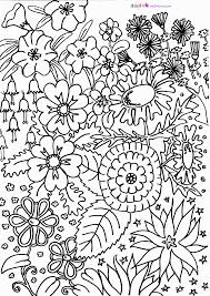 coloring flower garden coloring pages