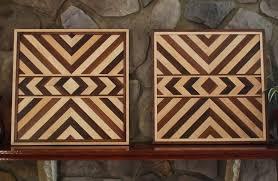 matching aztec wood american geometric design wood