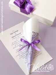 scroll wedding invitations scroll wedding invitation lilac violet handmade wedding