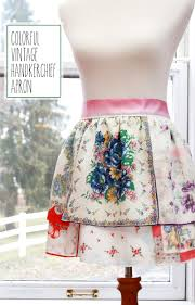 thanksgiving aprons colorful vintage handkerchief apron skip to my lou