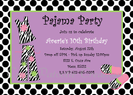 pajama party invitations dancemomsinfo com