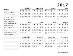 free 2017 calendar with holidays 2017 year calendar template us