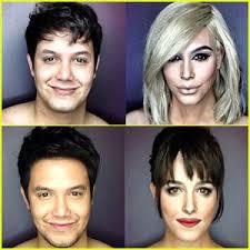 this makeup artist pletely transforms himself into dakota johnson kim kardashian more