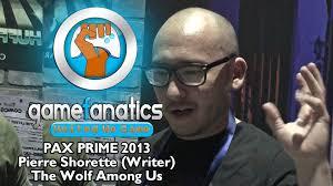 pax prime 2013 pierre shorette writer the wolf among us