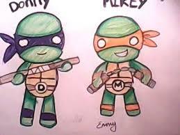 draw teenage mutant ninja turtles cute style