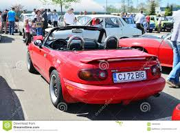 classic mazda classic red mazda mx 5 na series i mazda miata rear editorial
