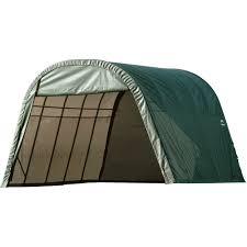 shelterlogic round style instant garage shelter u2014 24ft l x 13ft w