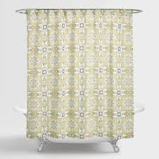 Gray And Yellow Chevron Shower Curtain by Shower Curtains U0026 Shower Curtain Rings World Market