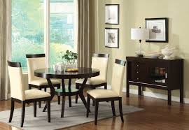 furniture of america melly round espresso dining table