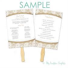 wedding program paddle fan template free invite programs free europe tripsleep co