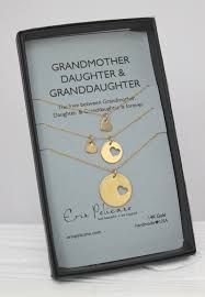grandparent jewelry gifts 14k gold grandmother necklace set grandmothers