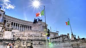 Flag Of Roma Monuments Roma Flag Grass Sky Rome Statues Sun Architecture