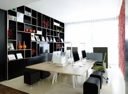 office stripes wallpaper in custom home office designs with white