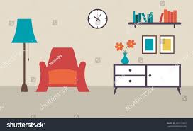 living room furniture interior design flat stock vector 500613445 living room with furniture interior design flat design vector illustration