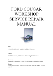 ford cougar repair manual pdf by mark james issuu