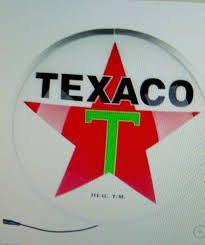 texaco globe wall light garage man cave home decor women texaco