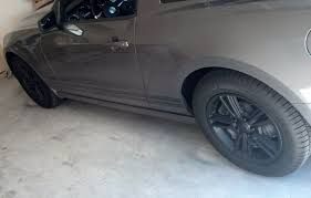 2015 Mustang V6 Black Anyone Plastidipped Their Stock V6 Wheels The Mustang Source