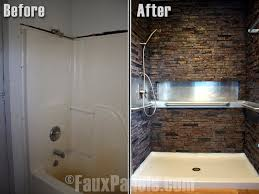 Stone Bathroom Designs Interesting Decoration Shower Wall Panels Home Depot Splendid