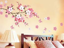 cherry blossom bedroom japanese pink cherry blossom tree with butterflies removable vinyl