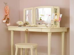 Antique Makeup Vanity Table Bedroom Glamorous Corner Makeup Vanity To Give You Maximum Floor