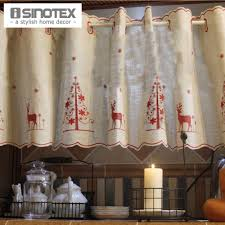 kitchen wooden piece used like curtain christmas kitchen curtains