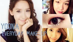 korean makeup tutorial snsd yoona everyday make up tutorial make up ala