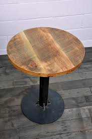 Reclaimed Wood Bistro Table Industrial Bistro Table Union Wood Company Upcyclers Pinterest