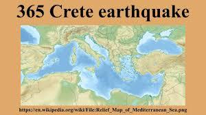 Crete Map 365 Crete Earthquake Youtube
