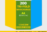 double sided tri fold brochure template best and professional