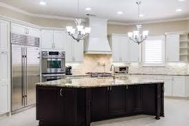 kitchen wonderful espresso kitchen cabinets with white island