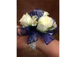 royal blue corsage set of wrist corsage for navy blue dress pictures