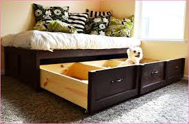 Bed With Drawers Underneath Bed Frame With Storage Full Diy U2014 Modern Storage Twin Bed Design