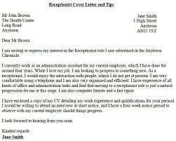 sample cover letter for receptionist position receptionist