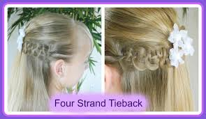 cute hairstyles for first communion best first communion hairstyles four strand braid tieback
