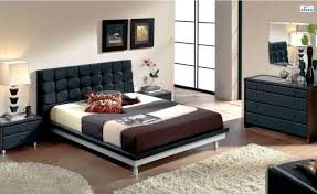 Leather Headboard Bedroom Set  Stunning Decor With Black Sleigh - White leather headboard bedroom sets