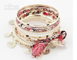 girls bracelet images Girls bracelets multilayer cloth pearl bracelet wave coin pendant jpg