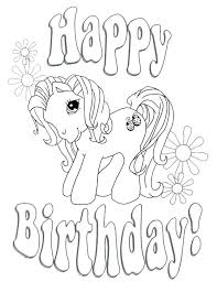 my little pony birthday coloring page free birthday coloring pages happy birthday coloring pages for kids