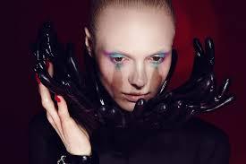 Beauty Garde Futuristic Alien Avant Garde Black Glove Edgy Makeup Beauty